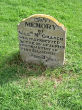 Grave of William McCulloch executed for mutiny